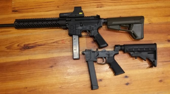 9mm Carbine, Colt Mag AR15 Adapter VS Glock Lower, Shooting and C…